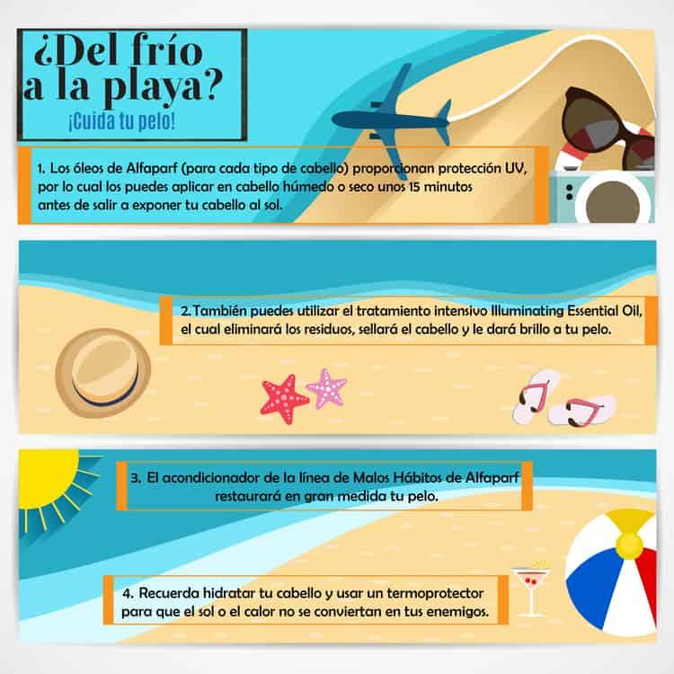 Tips para el cabello en la playa